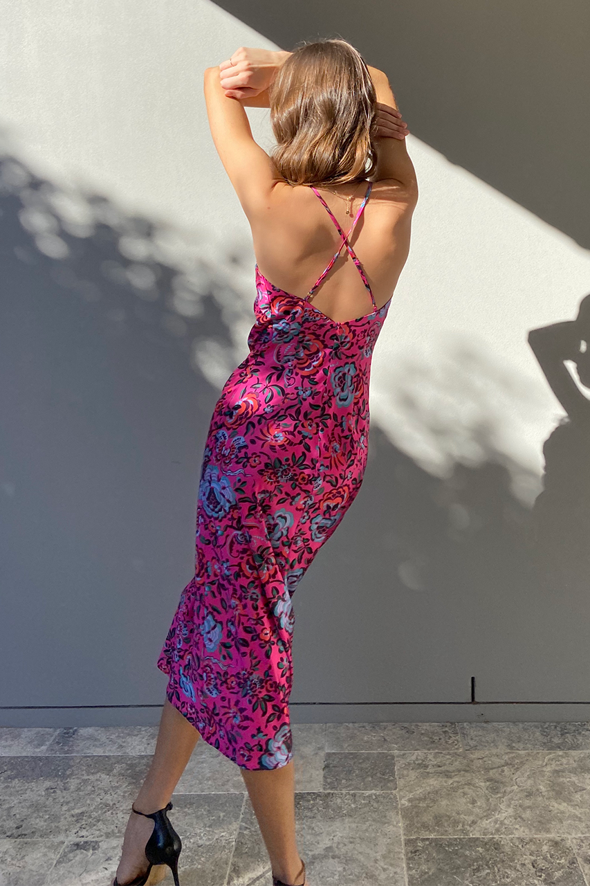 Reeva Slip Dress - Hot Pink