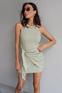 Tau Tie Dress - Sage