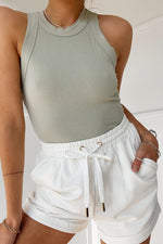 Load image into Gallery viewer, Tenley Shorts - White