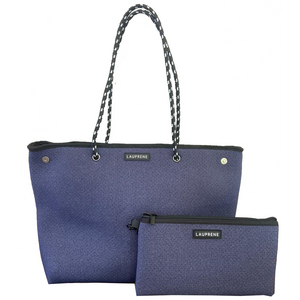 Iconic Blue Denim Zipped Neoprene Tote