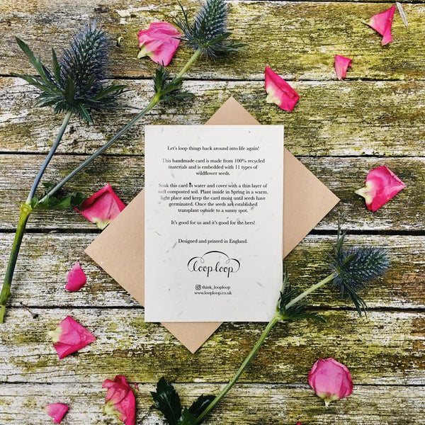 Plantable Wildflower Card- Love you to the moon / Valentines