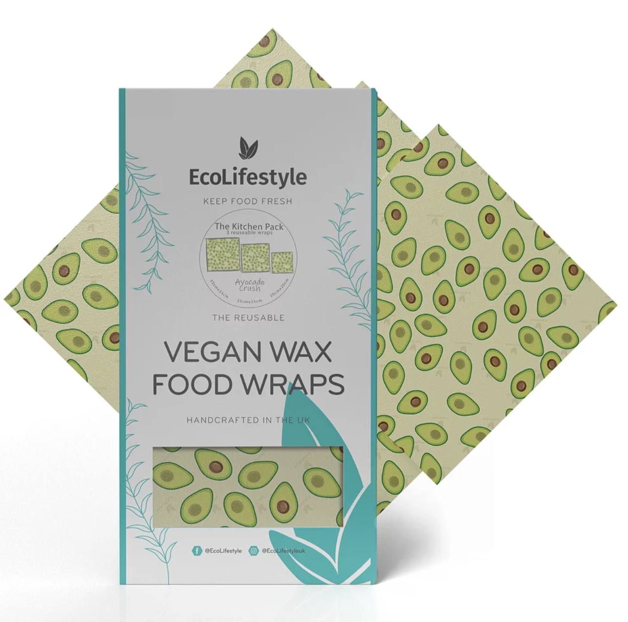 Vegan Wax Food Wraps Kitchen Pack- EcoLifestyle