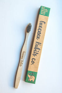 Charcoal Infused Bamboo Toothbrush - Soft Bristles