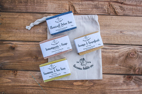 Soap Gift Set (with Limited Edition Upcycled Fabric Bag)