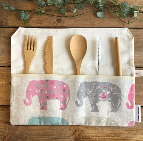 Up-cycled Cutlery Rolls- Limited Edition (Various patterns)