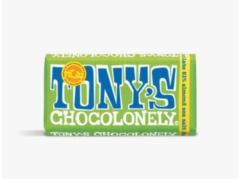 Tony's Chocolonely Dark Almond Sea Salt 51%