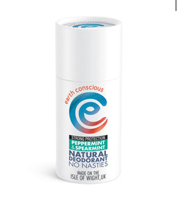 Earth Conscious Natural Deodorant Stick- Mint & Spearmint Strong Protection