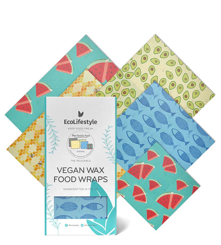 Vegan Wax Food Wraps Family Pack- EcoLifestyle