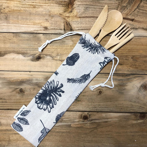 Organic cotton & Linen Cutlery Pouch- Limited Edition