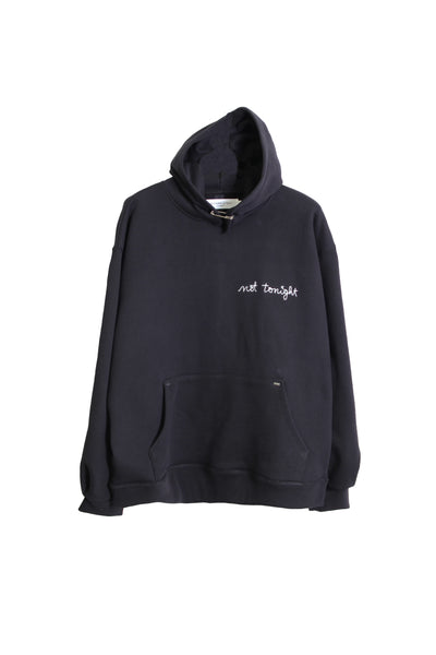 "HOODIE ""NOT TONIGHT"" BLACK"