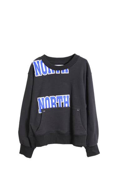 CREWNECK SWEATSHIRT FR AND BACK NORTH