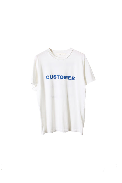 "SHORT SLEEVE T SHIRT ""CUSTOMER"" - WHITE"