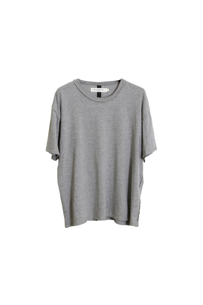 SHORT SLEEVE BOXY T SHIRT - GREY