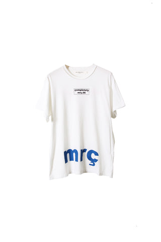 "SHORT SLEEVE T SHIRT "" BOX LOGO / MRC "" - WHITE"
