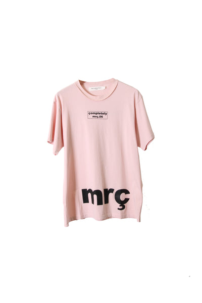"SHORT SLEEVE T SHIRT "" BOX LOGO / MRC "" - PINK"