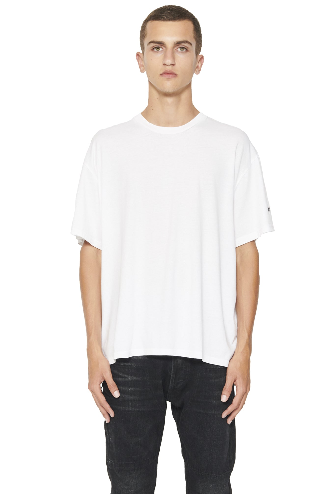 SHORT SLEEVE BOXY T SHIRT - WHITE