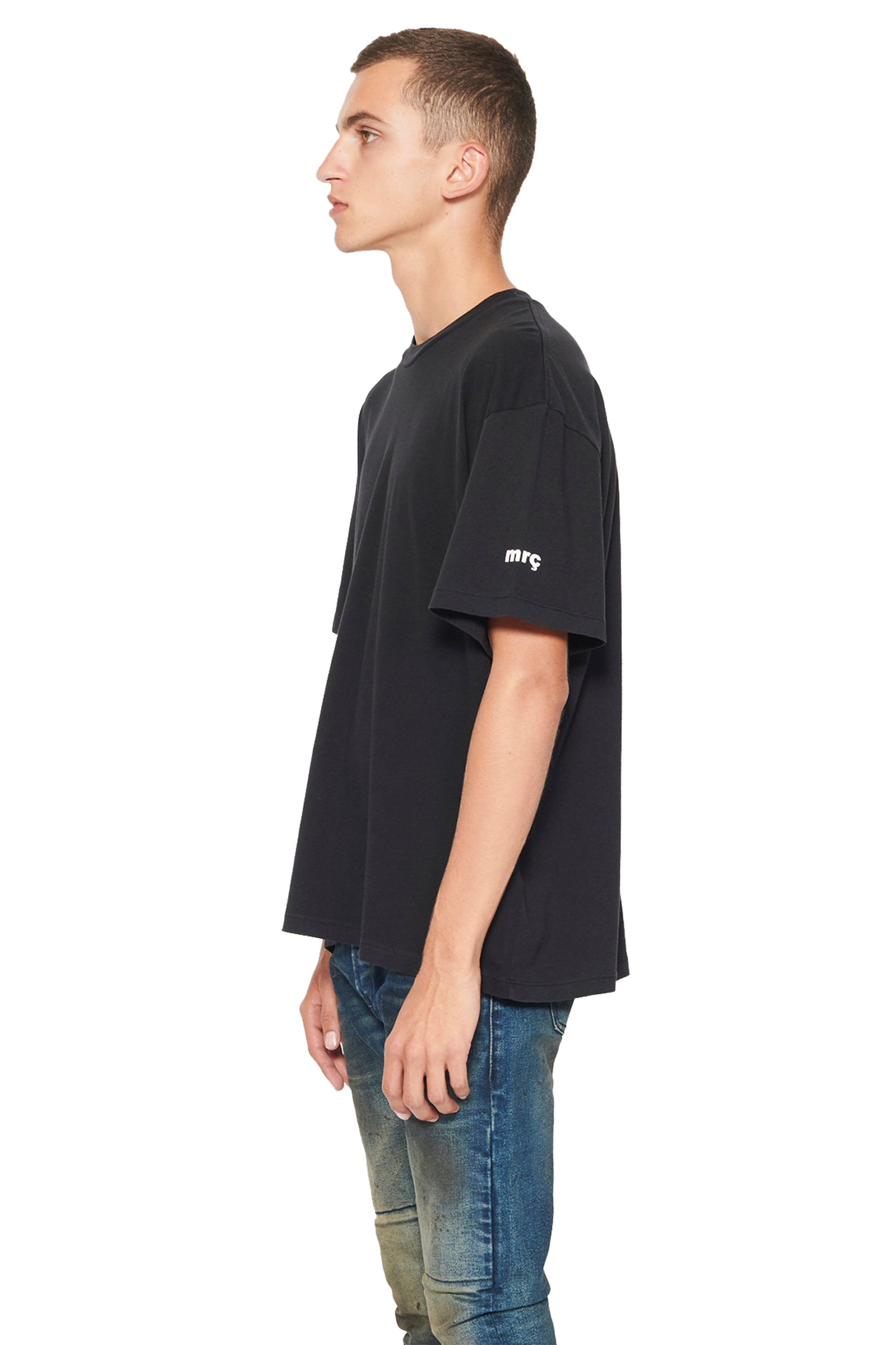SHORT SLEEVE BOXT T - BLACK