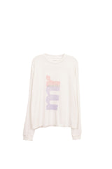"LONG SLEEVE T SHIRT ""BIG MR"" - WHITE"