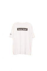 "Short sleeve t shirt ""bone head"" white - WHITE"