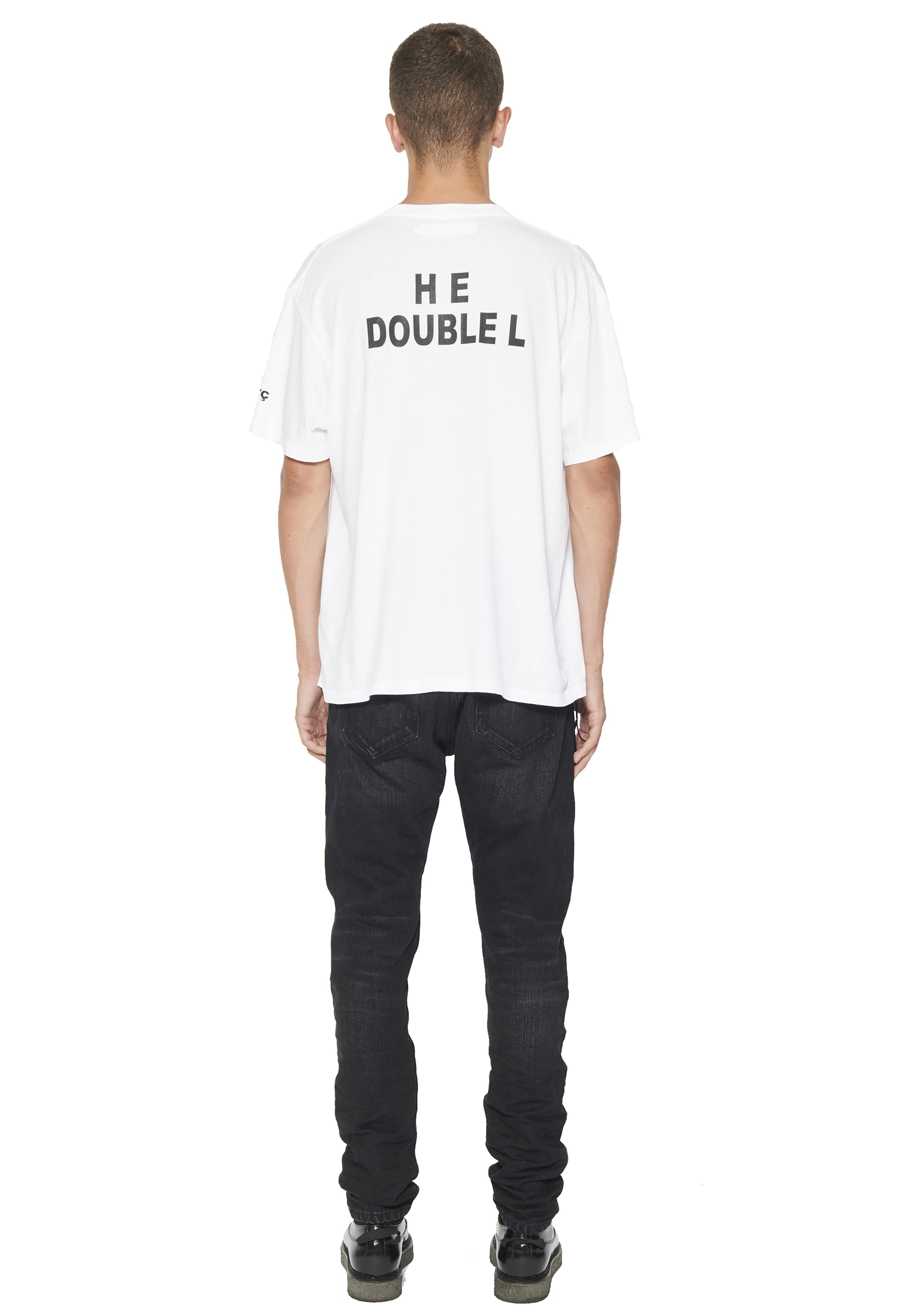"SHORT SLEEVE T SHIRT  ""HE DOUBLE L"" - WHITE"
