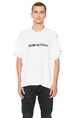 "SHORT SLEEVE T SHIRT  ""PAINKILLER ""- WHITE"