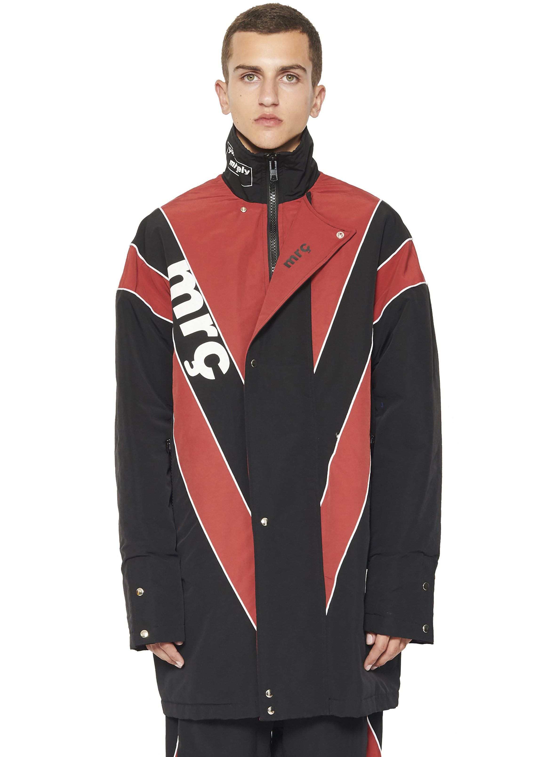 STADIUM JACKET - RED/BLACK