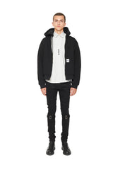 PUFFY WORKWEAR ZIP UP HOODIE - BLACK/BLACK