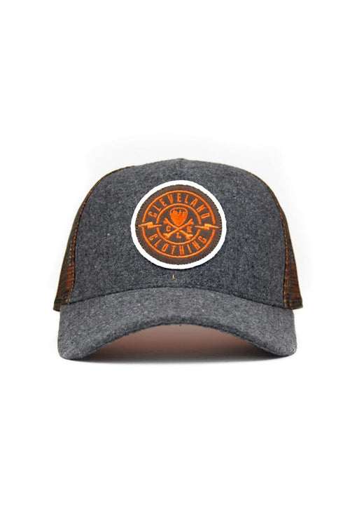 CLE Logo Trucker - Brown/Orange