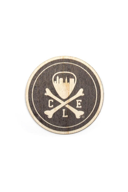 CLE Logo - Circle - Wooden Sticker