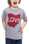 Ohio Love - Kids/Toddler Crew - CLE Clothing Co.