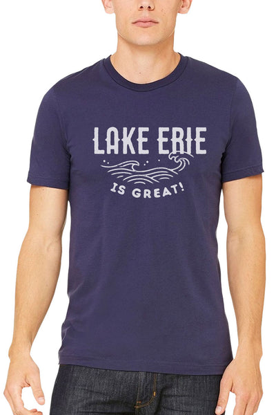 Lake Erie is Great Waves - Unisex/Mens Crew