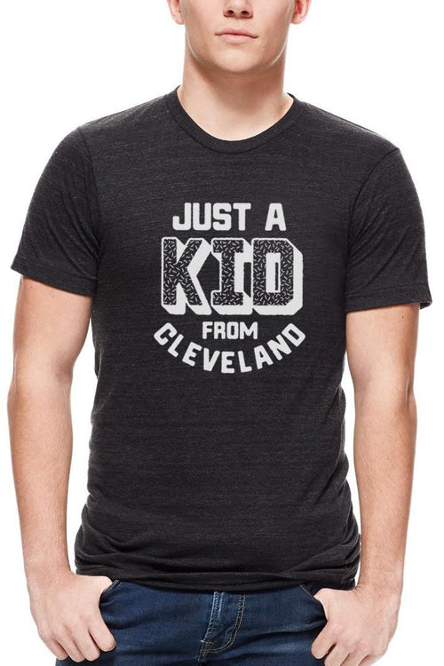 Just A Kid From Cleveland - Unisex Crew - Black & White