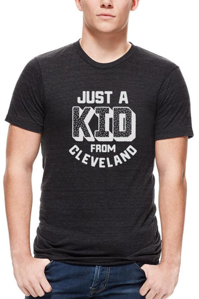 Just A Kid From Cleveland - Unisex Crew - Black & White - CLE Clothing Co.
