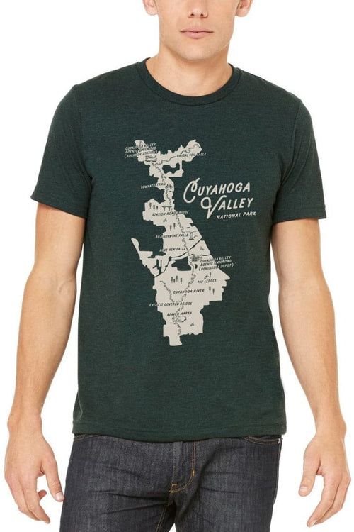 CVNP Map - Unisex Crew - CLE Clothing Co.