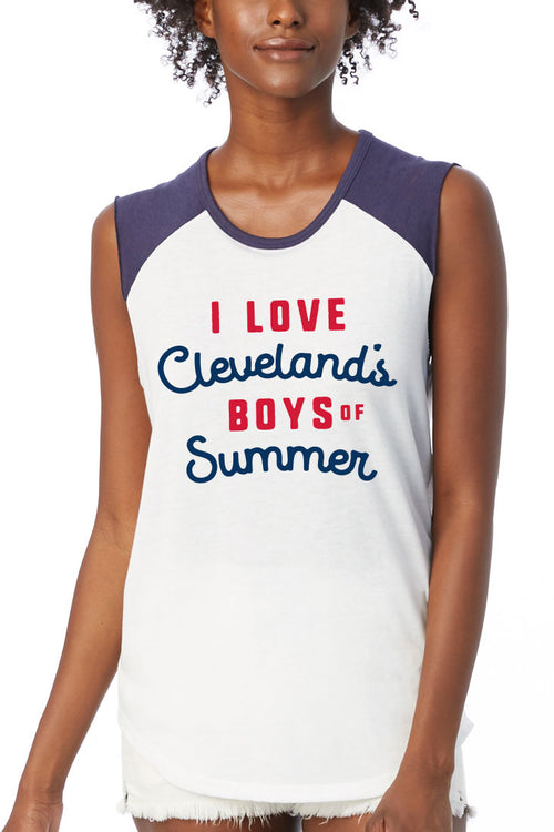 I Love Clevelands Boys of Summer - Womens Vintage Jersey Tank