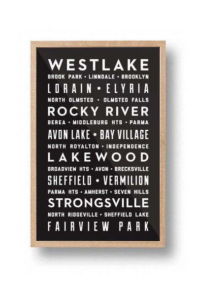 West Side Suburbs Poster - CLE Clothing Co.