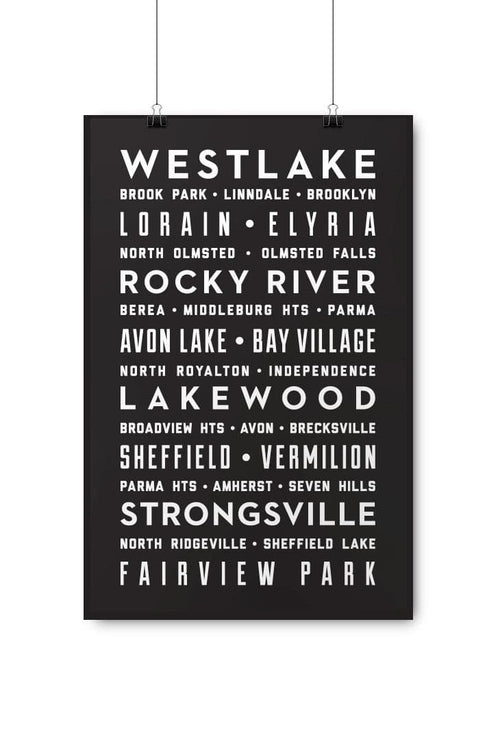 West Side Suburbs Poster