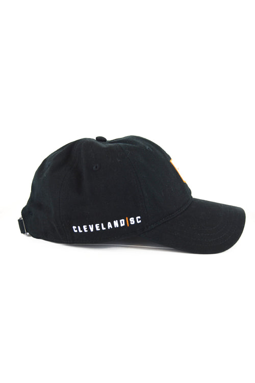 Cleveland Soccer Club Logo - Dad Hat - Black - CLE Clothing Co.
