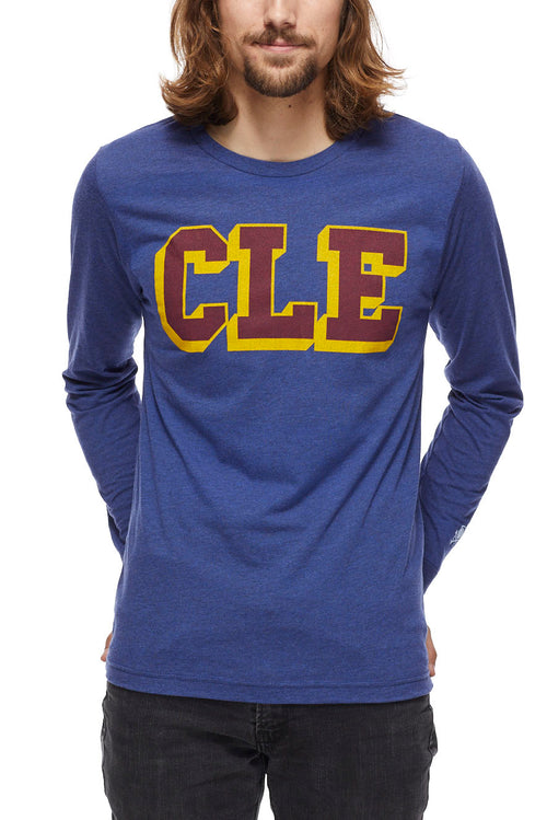 CLE College - Wine/Gold - Unisex Long-Sleeve Crew