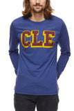 CLE College - Wine/Gold - Unisex Long-Sleeve Crew - CLE Clothing Co.