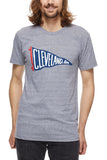 Cleveland Pennant - Navy/Red - Unisex Crew - CLE Clothing Co.