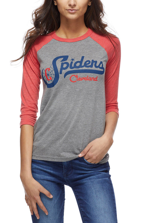 Cleveland Spiders - Navy/Red - Unisex Raglan