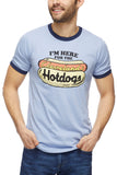 Here For The Cleveland Hotdogs - Navy/Red - Unisex Ringer Crew