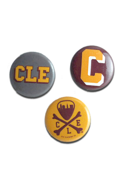 Wine/Gold Button Set - CLE Clothing Co.