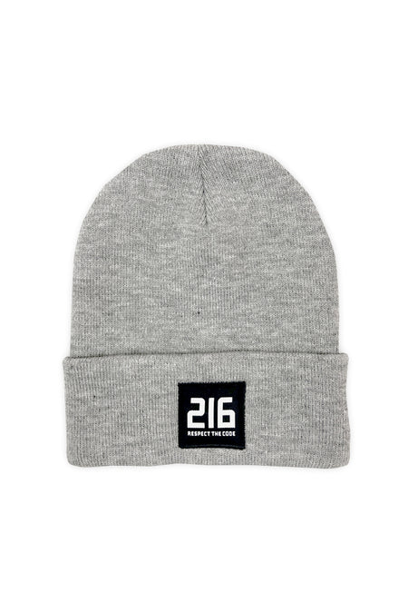 216 Respect The Code Patch Beanie - Black