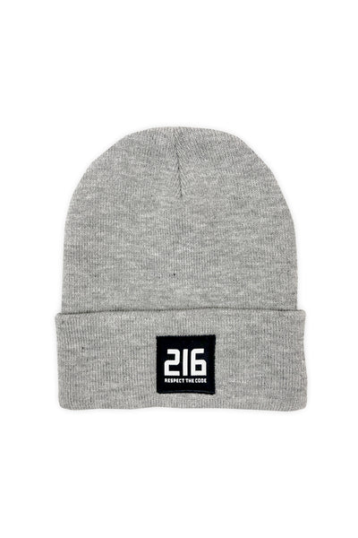 216 Respect The Code Patch Beanie - Grey