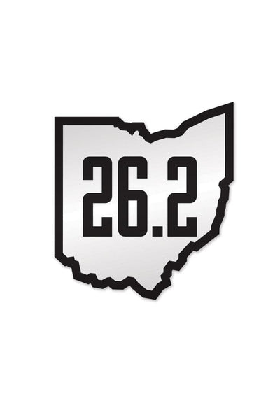 Run Ohio 26.2 - Sticker - CLE Clothing Co.