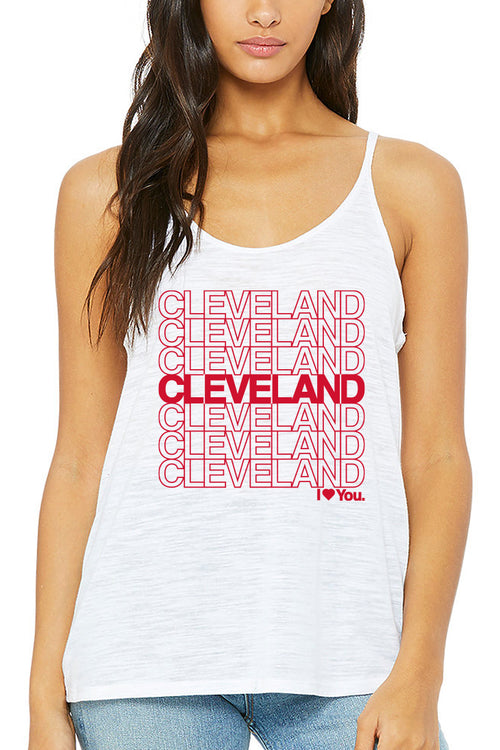 Cleveland I Love You Repeat - Womens Slouchy Tank