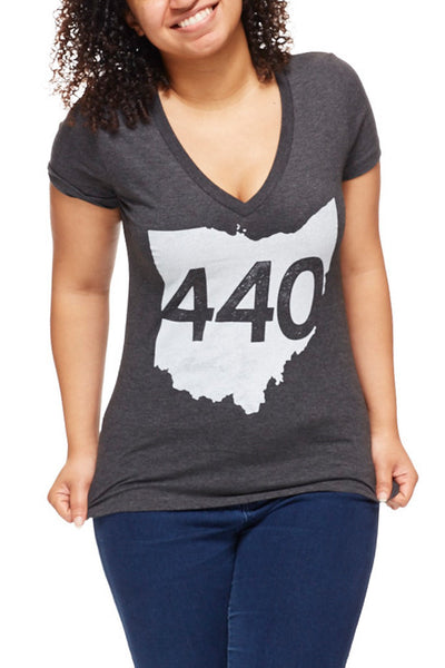 440 - Womens V-Neck - CLE Clothing Co.