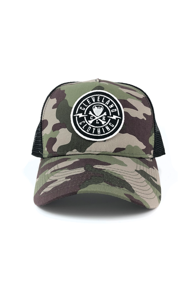 CLE Logo Trucker Hat - Camo - CLE Clothing Co.
